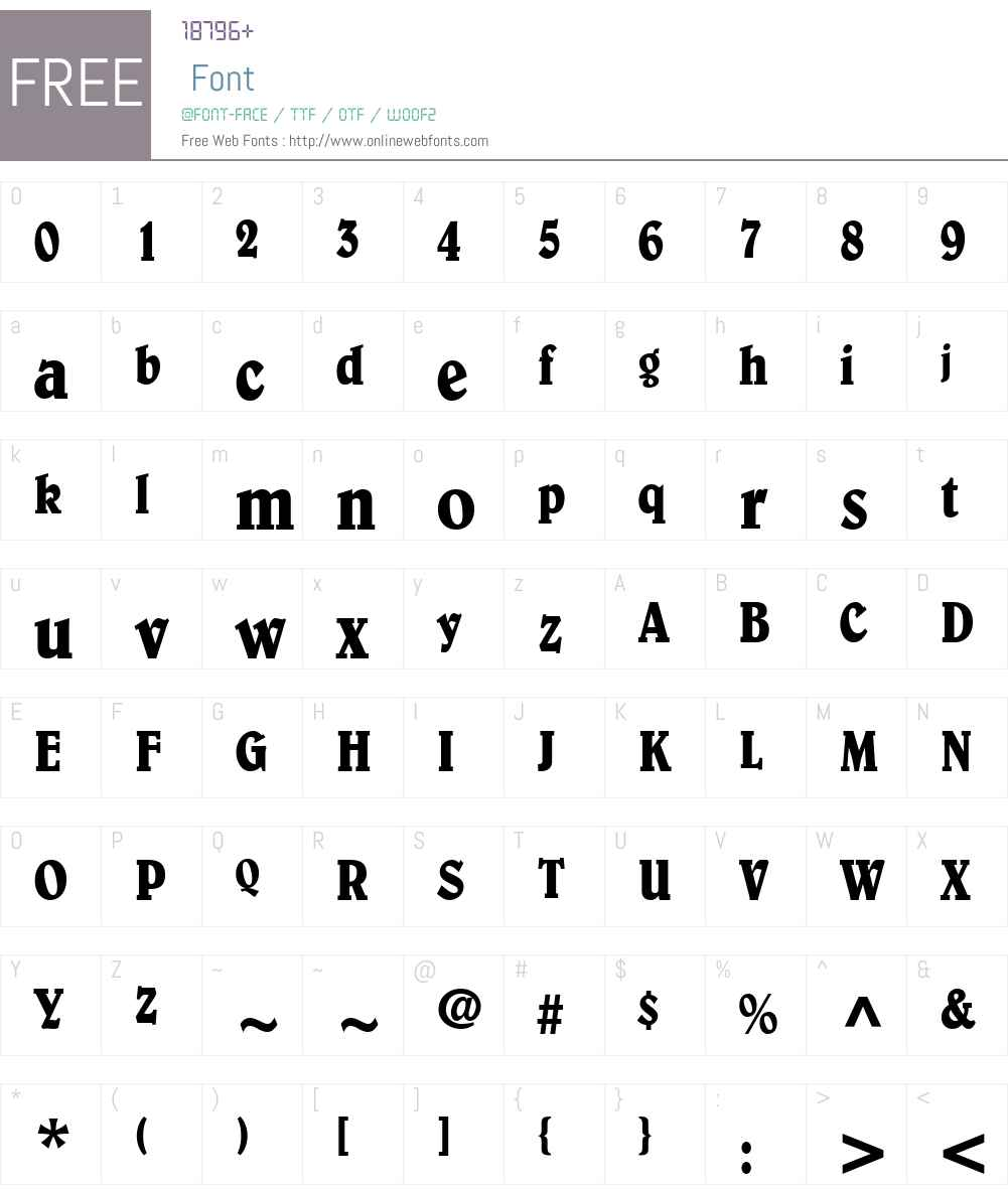 Barrister Condensed SSi Font Screenshots