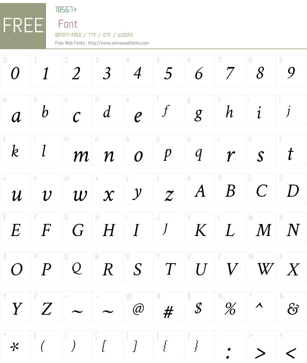 Crimson Text Font Screenshots