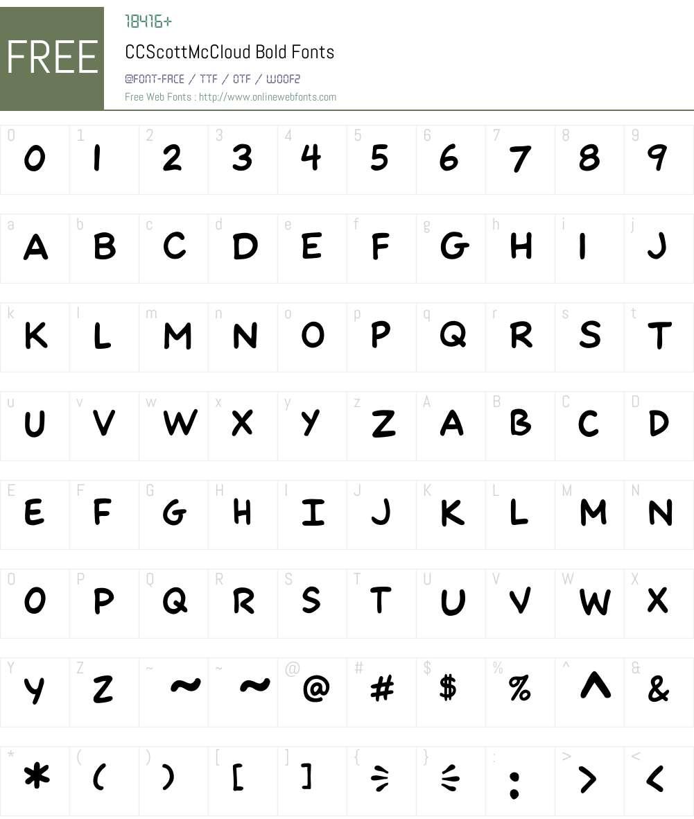 CCScottMcCloud-Bold Font Screenshots