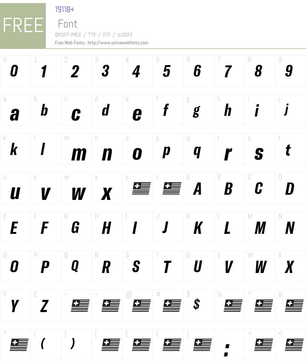 GT America Compressed Bold Font Screenshots