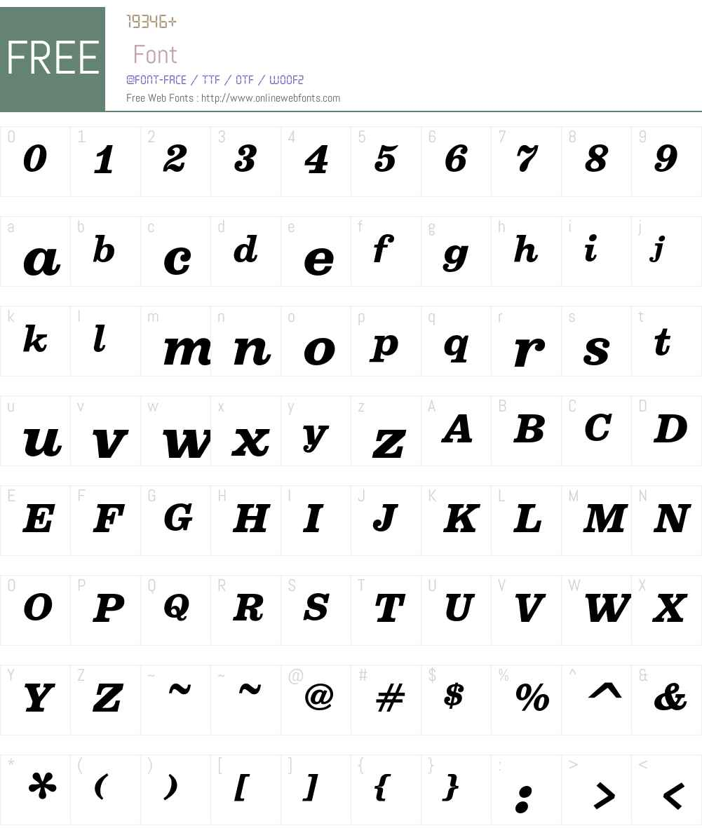 Belizio Font Screenshots
