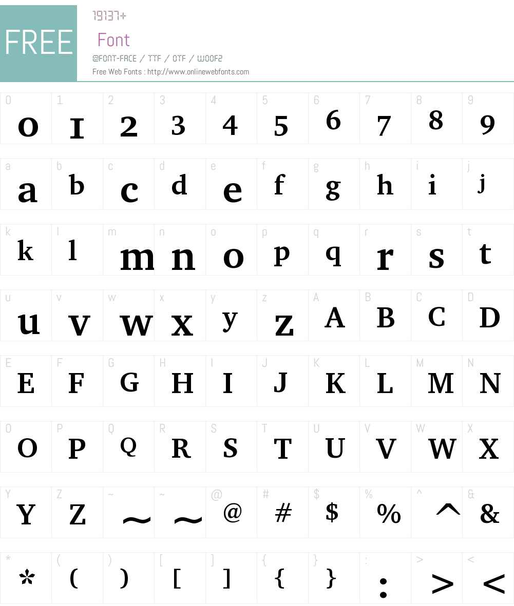CharterOSC Font Screenshots