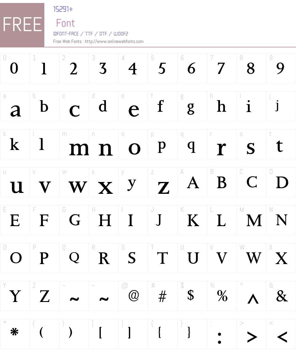 Palermo Font Screenshots