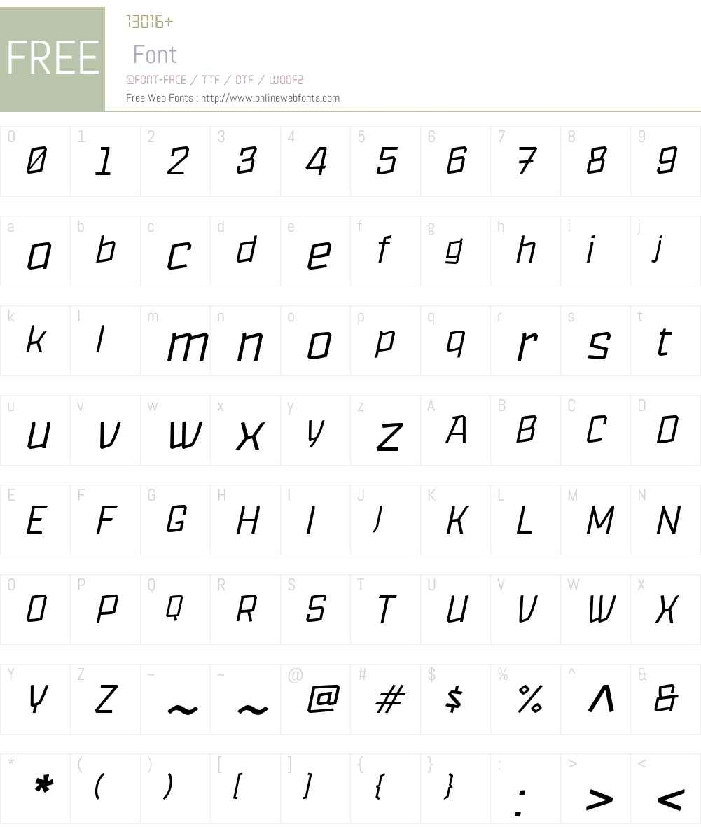 Lupulus-UltraLightItalic Font Screenshots