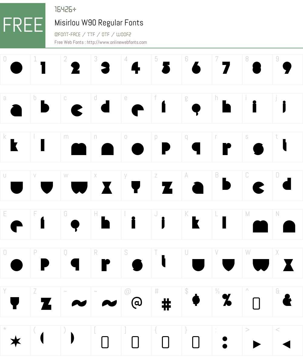 MisirlouW90-Regular Font Screenshots