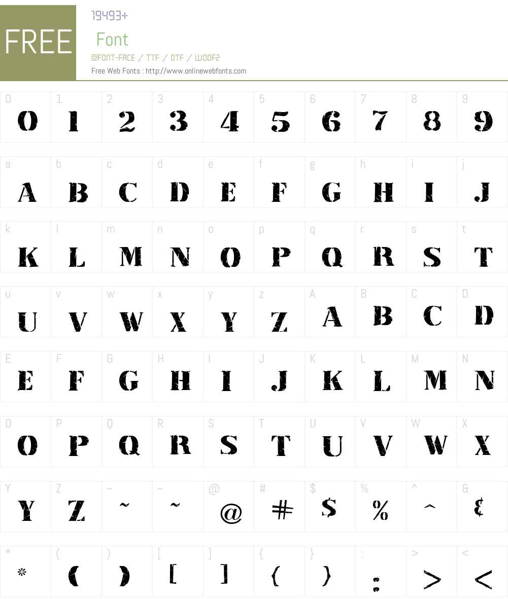 Inkpad Font Screenshots