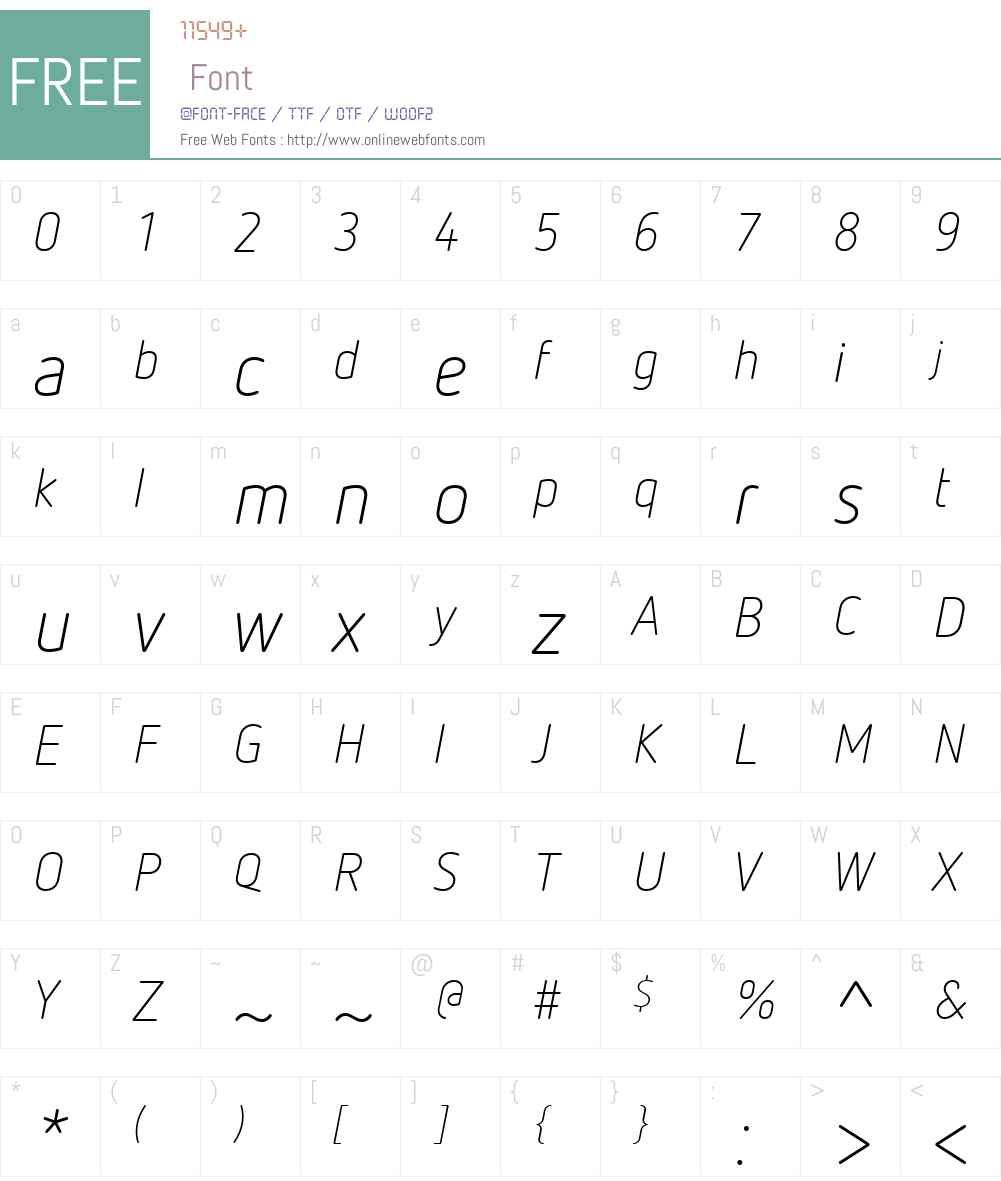 NettoOffcW01-LightItalic Font Screenshots