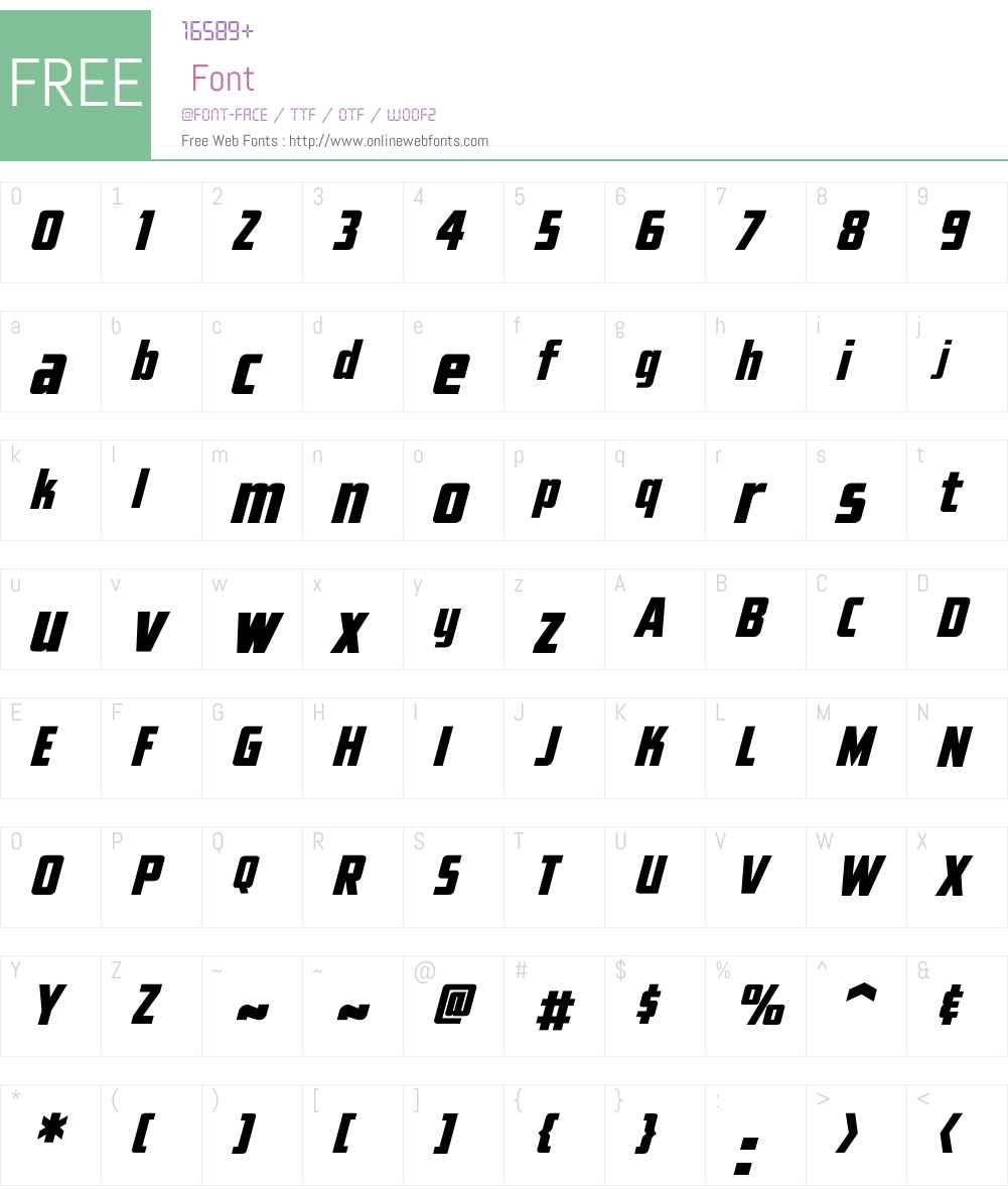 Elephantmen Tall Font Screenshots