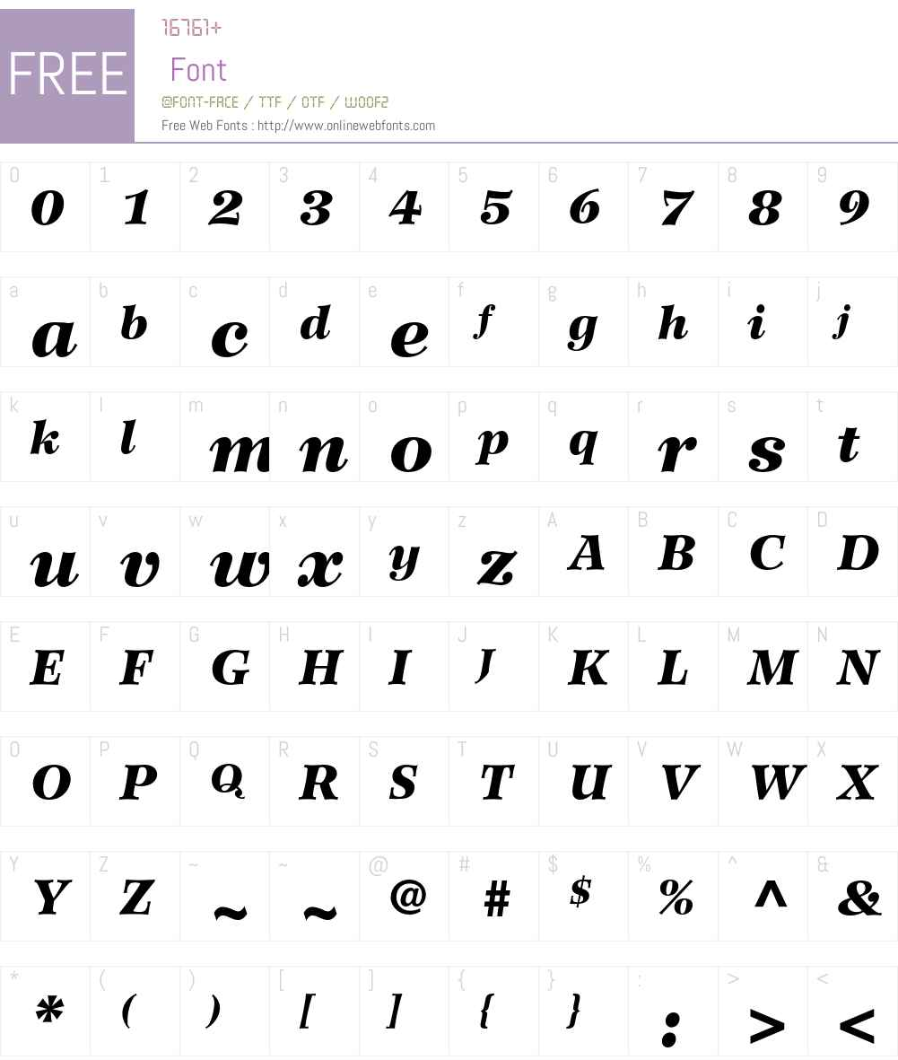 Wilke LT Std Font Screenshots