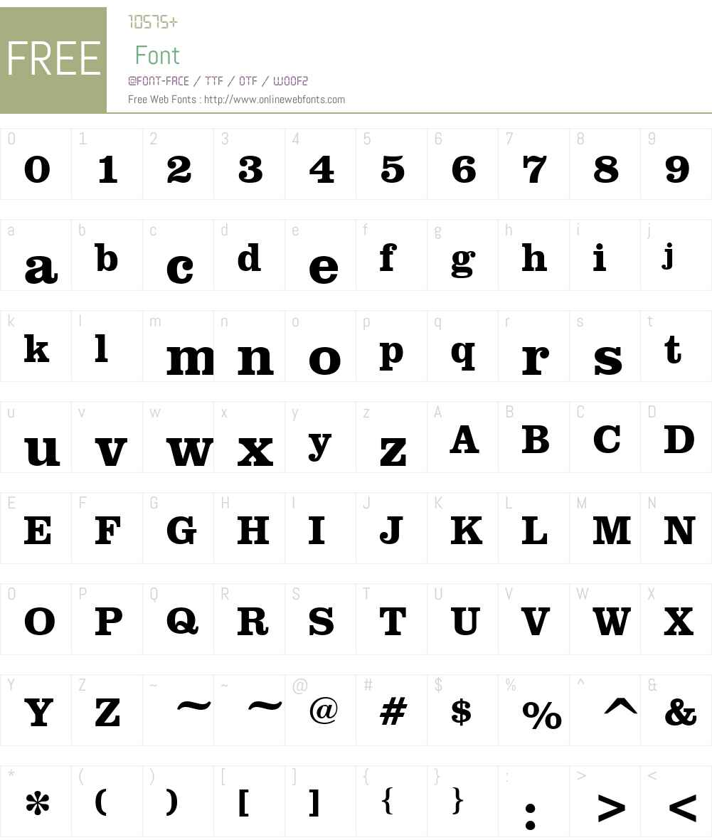 Cerebral Font Screenshots