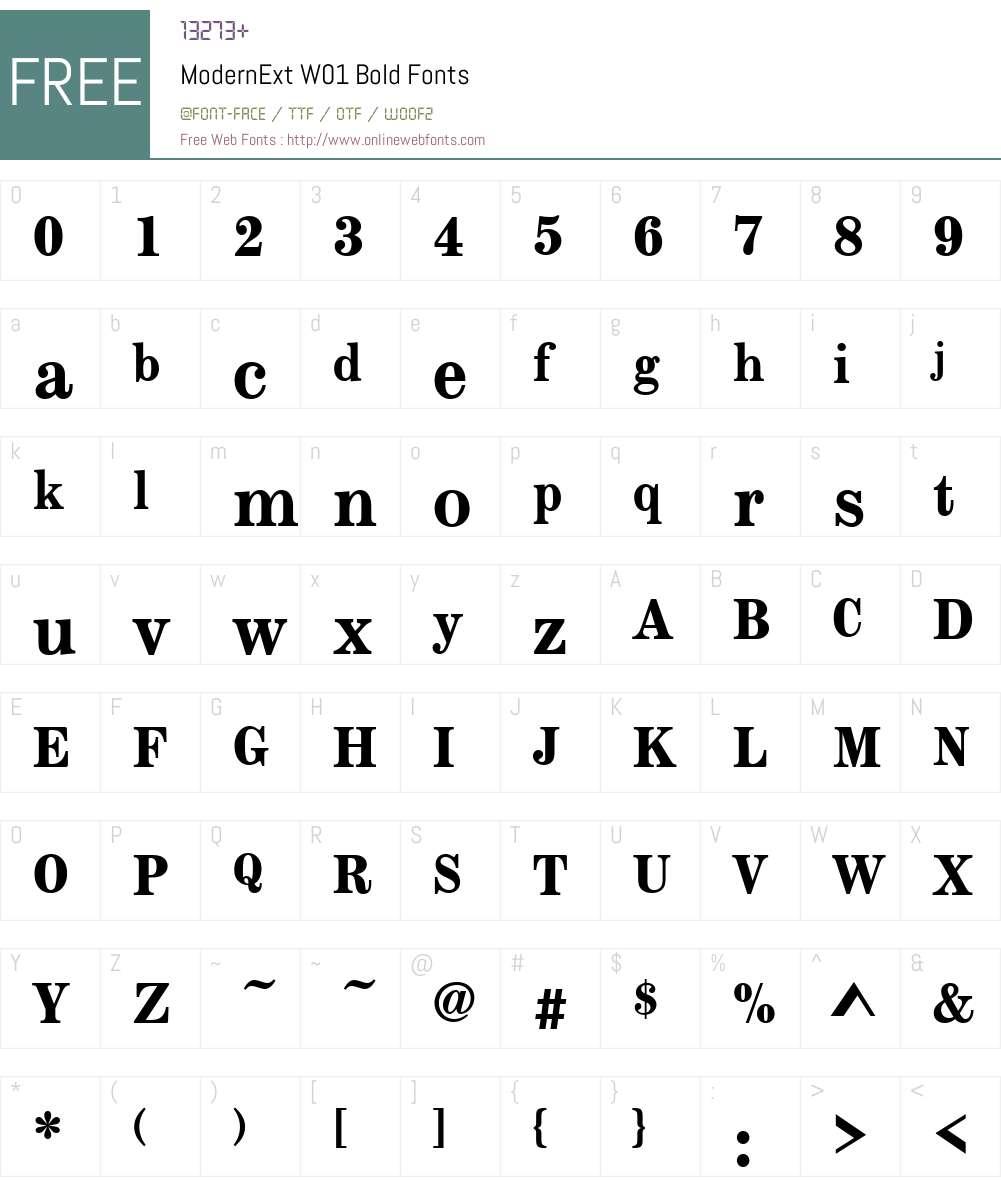 Modern Extended Font Screenshots