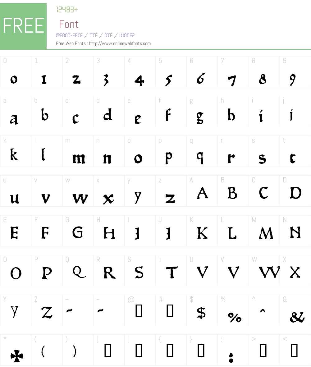 1467 Pannartz Normal Font Screenshots