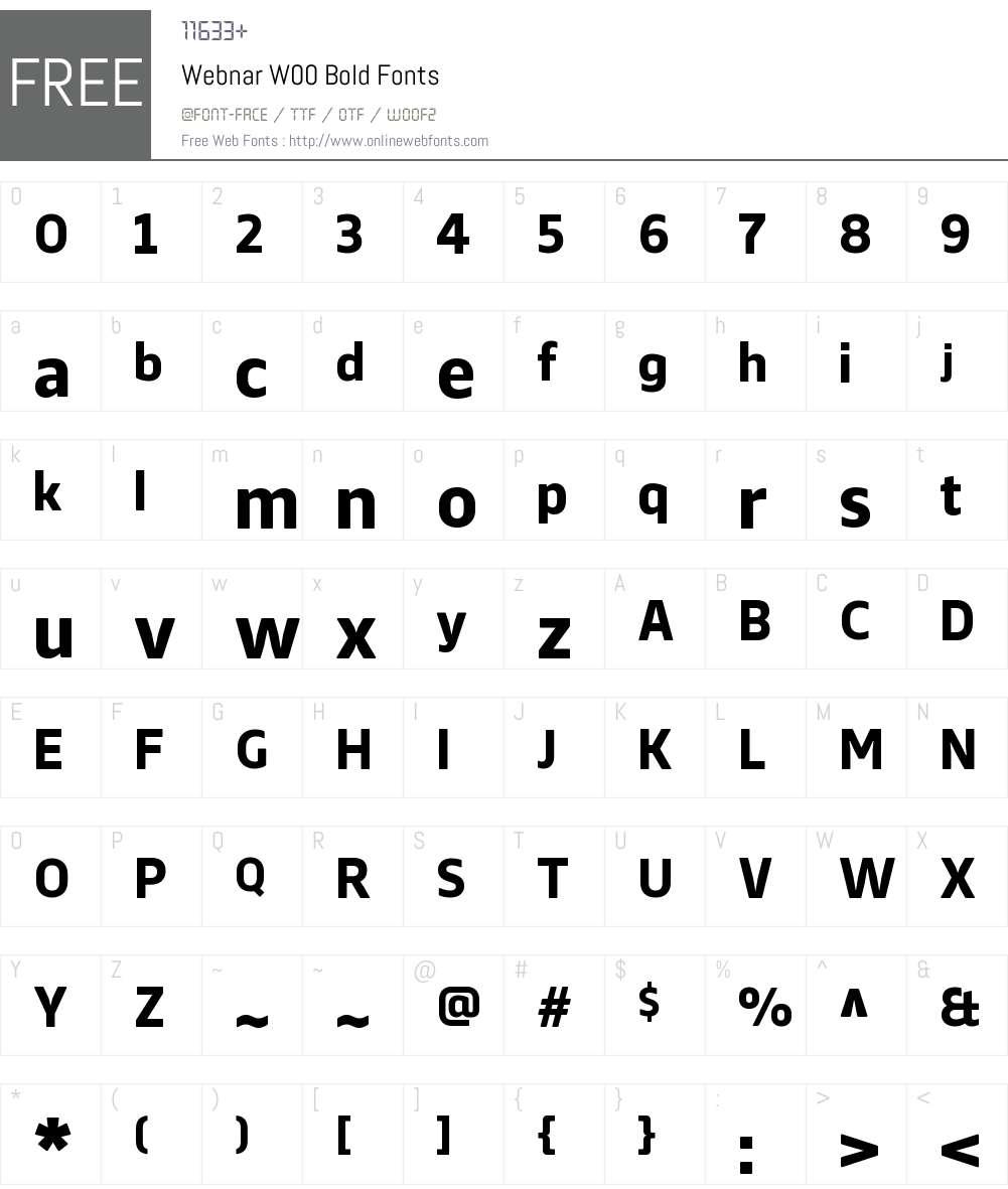 WebnarW00-Bold Font Screenshots