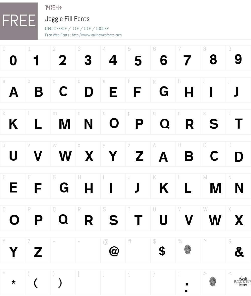 Joggle Fill Font Screenshots
