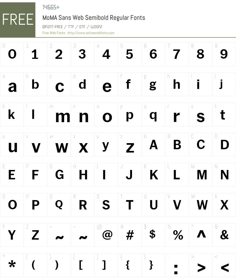 MoMA Sans Web Semibold Font Screenshots