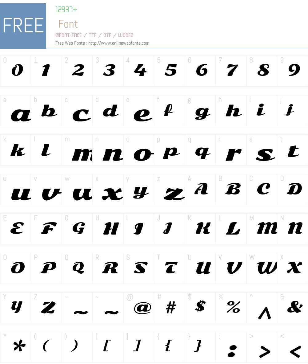 Sonsie One Font Screenshots
