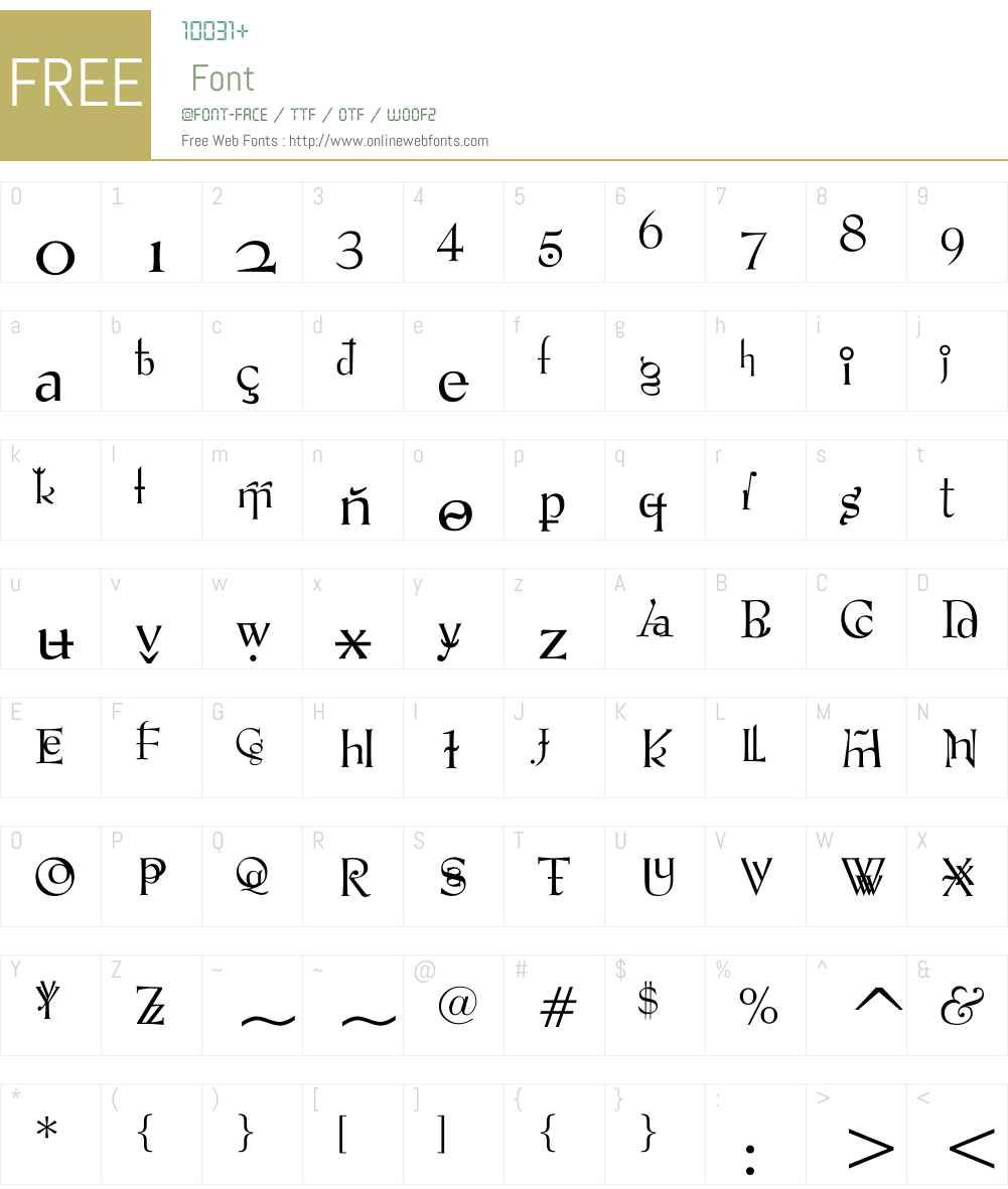 VTPompousCircumstanceShapely Font Screenshots