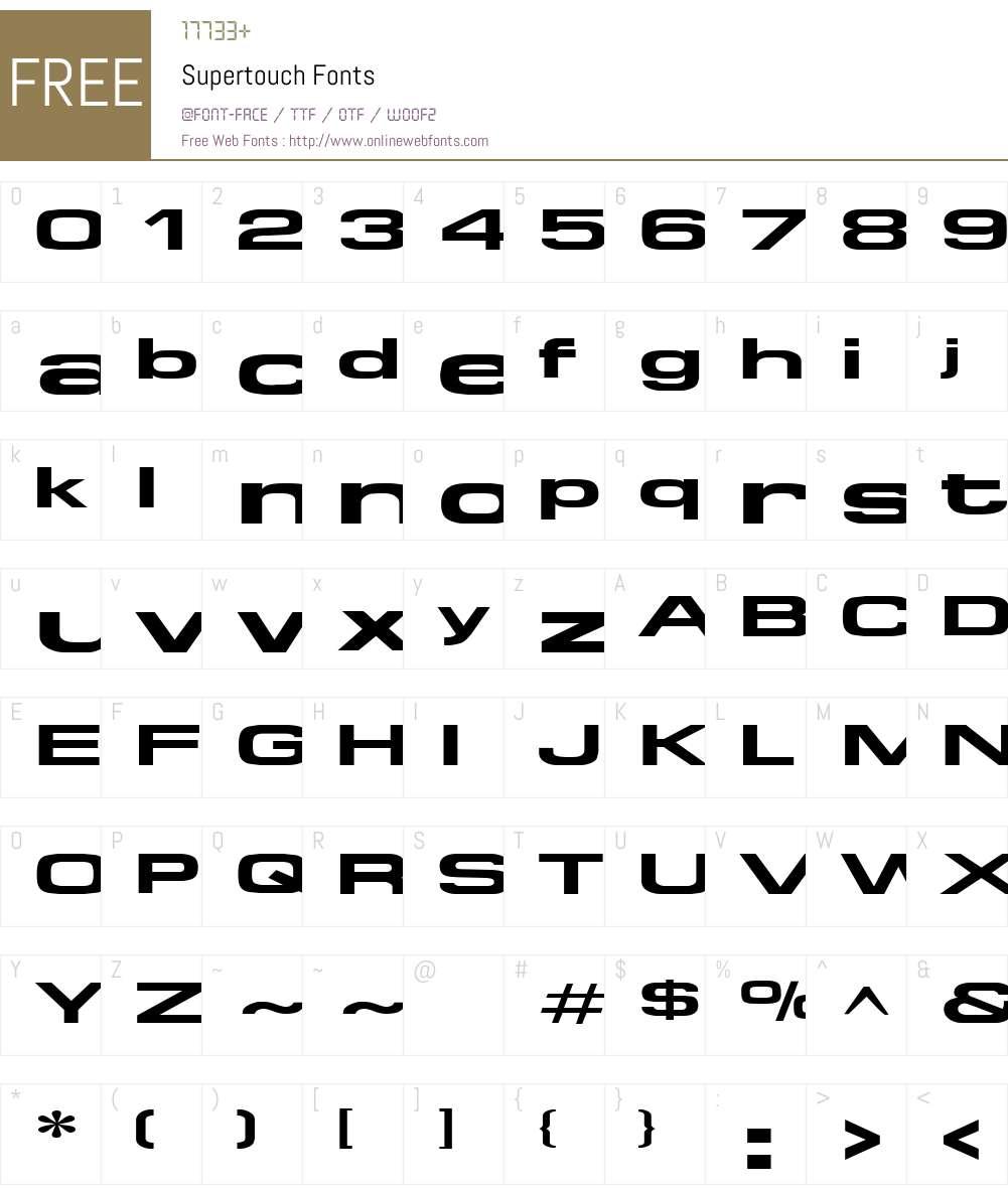 Supertouch Font Screenshots