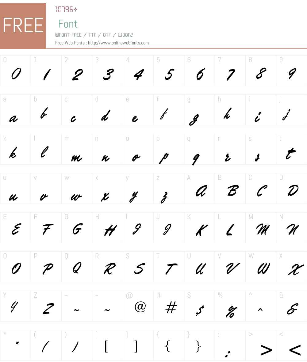 Marcanton Font Screenshots
