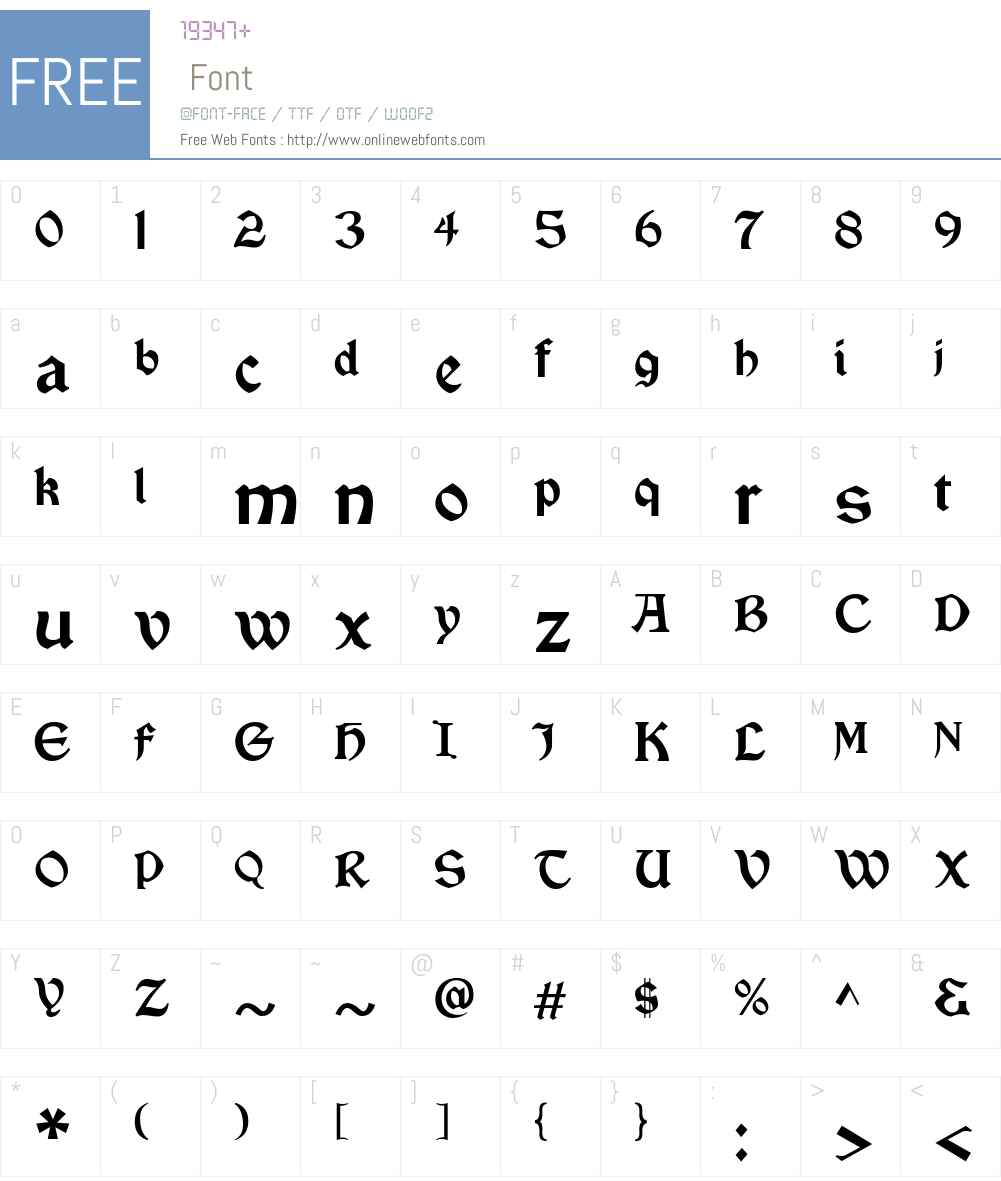 Vinque Font Screenshots