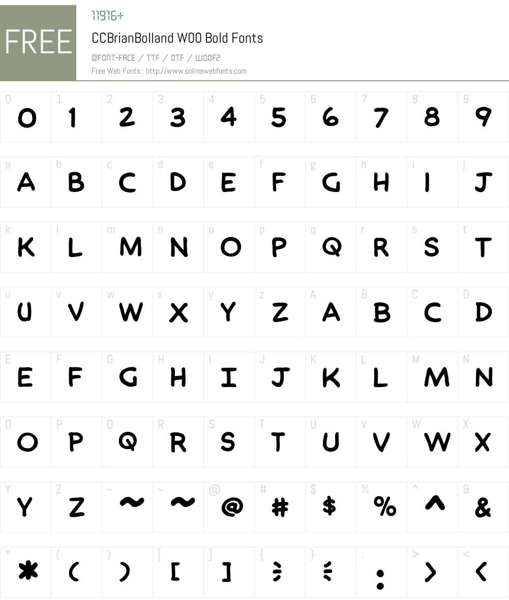 CCBrianBollandW00-Bold Font Screenshots