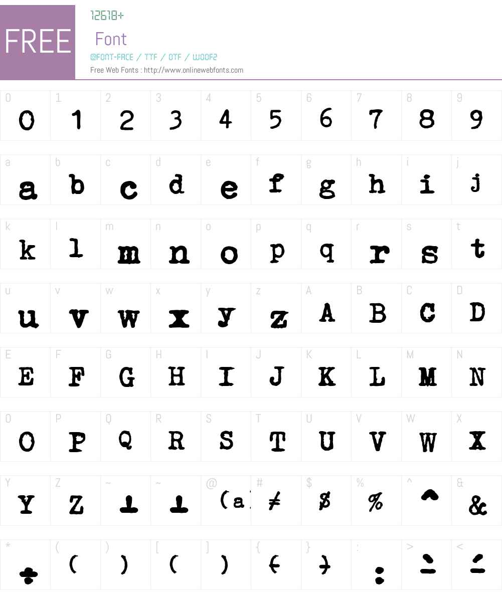 Erika Ormig Font Screenshots