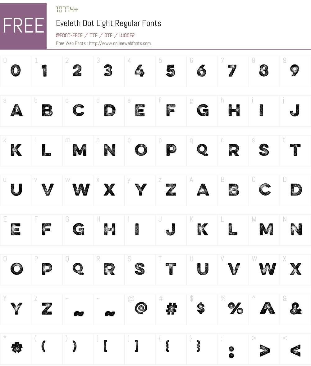 Eveleth Dot Light Font Screenshots