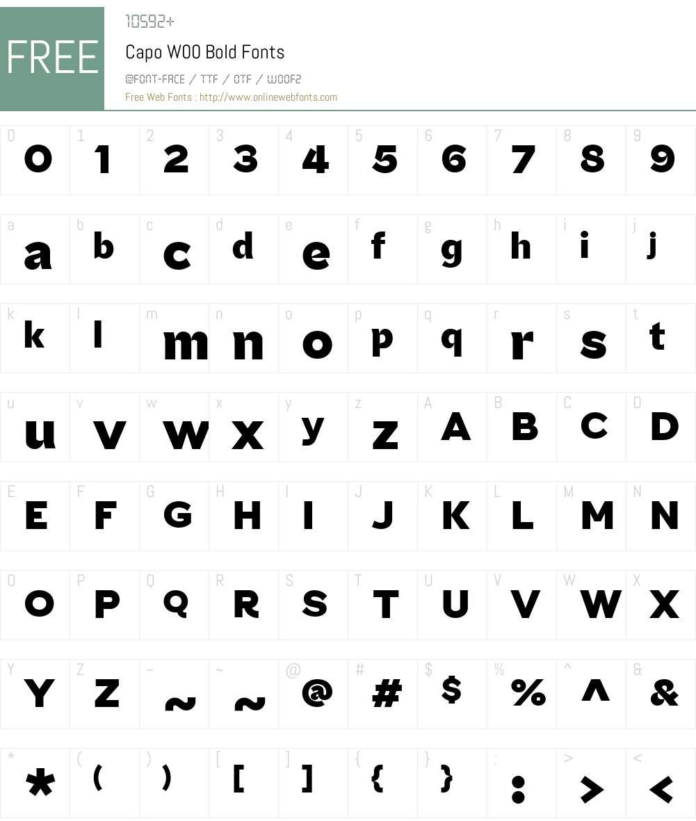 Capo Font Screenshots