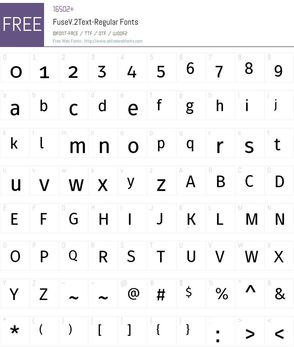 Fuse V.2 Text Font Screenshots