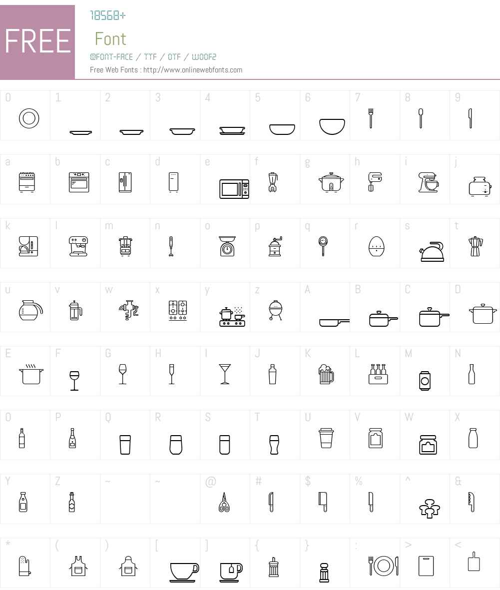 RNSPictografica-Cocina Font Screenshots