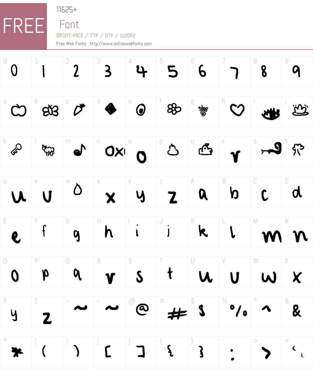 characterized Font Screenshots