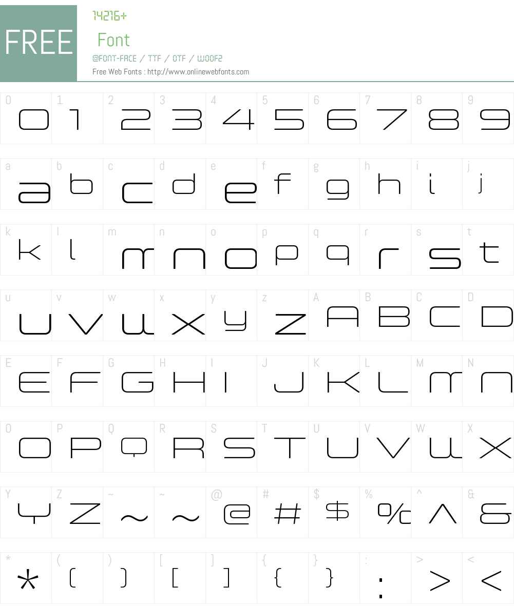ControllerExtW01-One Font Screenshots
