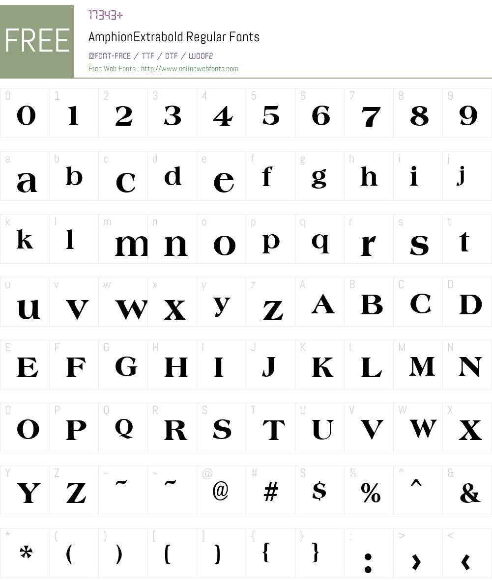 AmphionExtrabold Font Screenshots