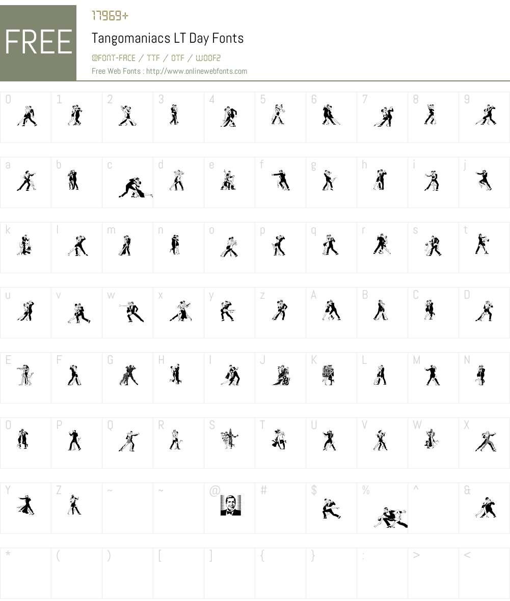 Tangomaniacs LT Font Screenshots