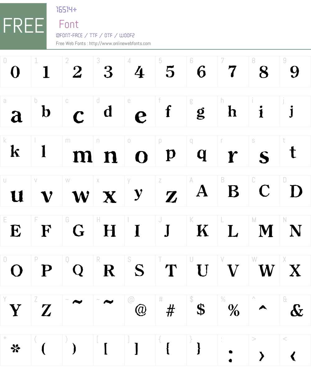 ClearfaceAntique Font Screenshots