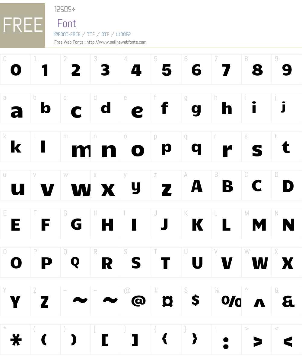 Candal Font Screenshots