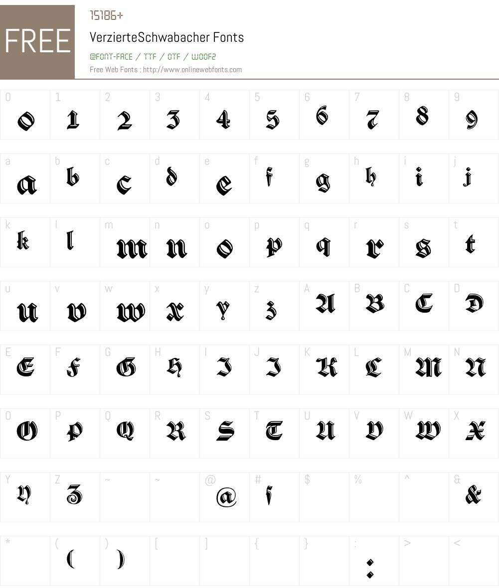 VerzierteSchwabacher Font Screenshots