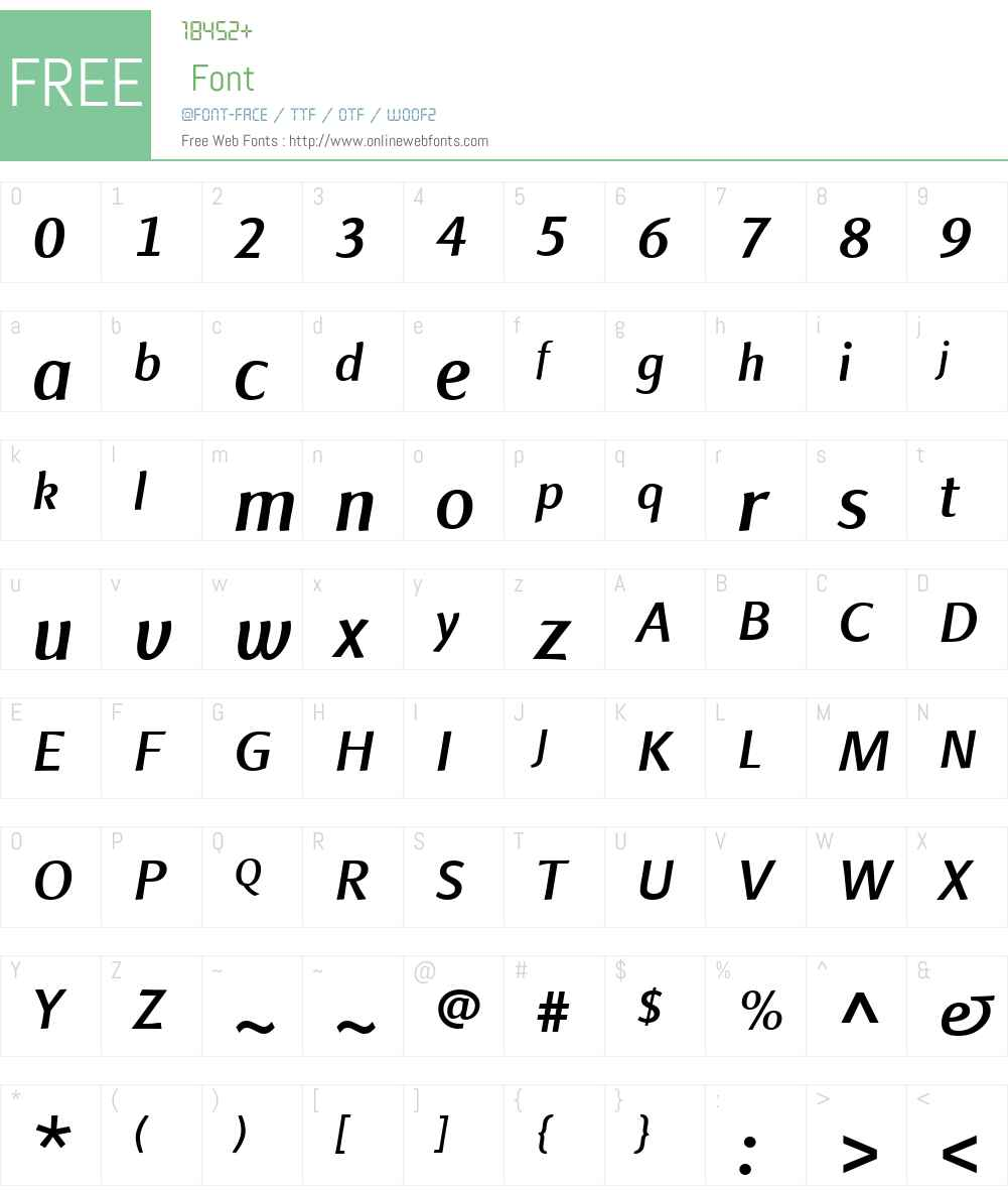 Finnegan Font Screenshots