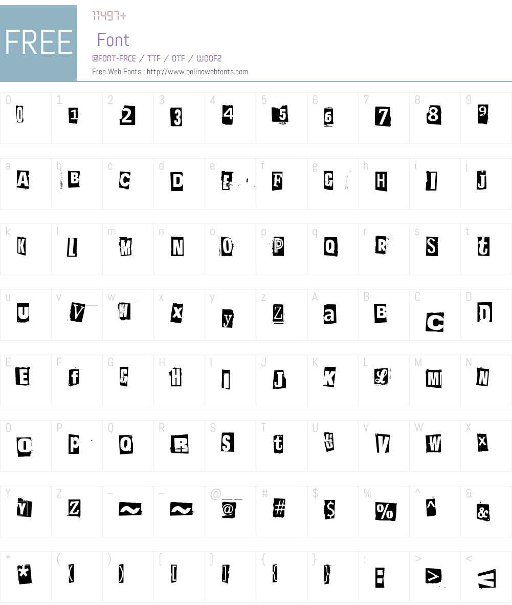 Postinkantaja Job Font Screenshots