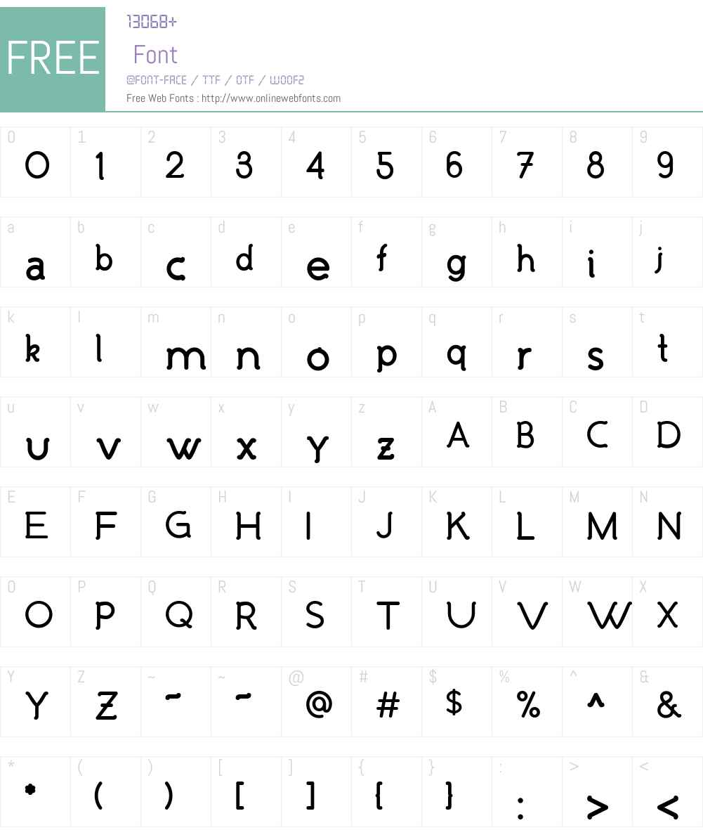 Malandrino Font Screenshots
