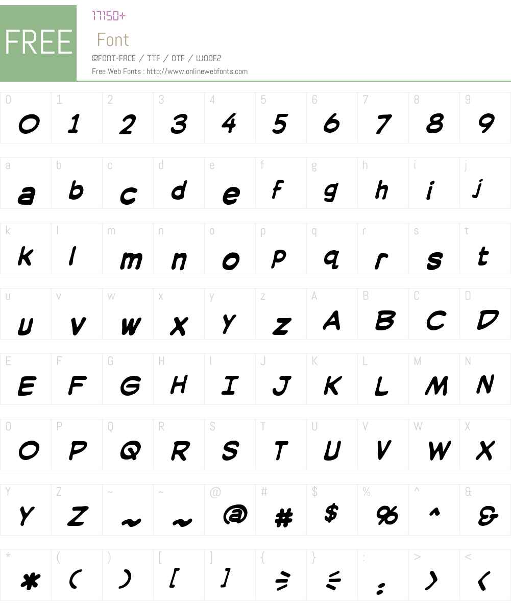 SilverAgeLCBBW00-Bold Font Screenshots