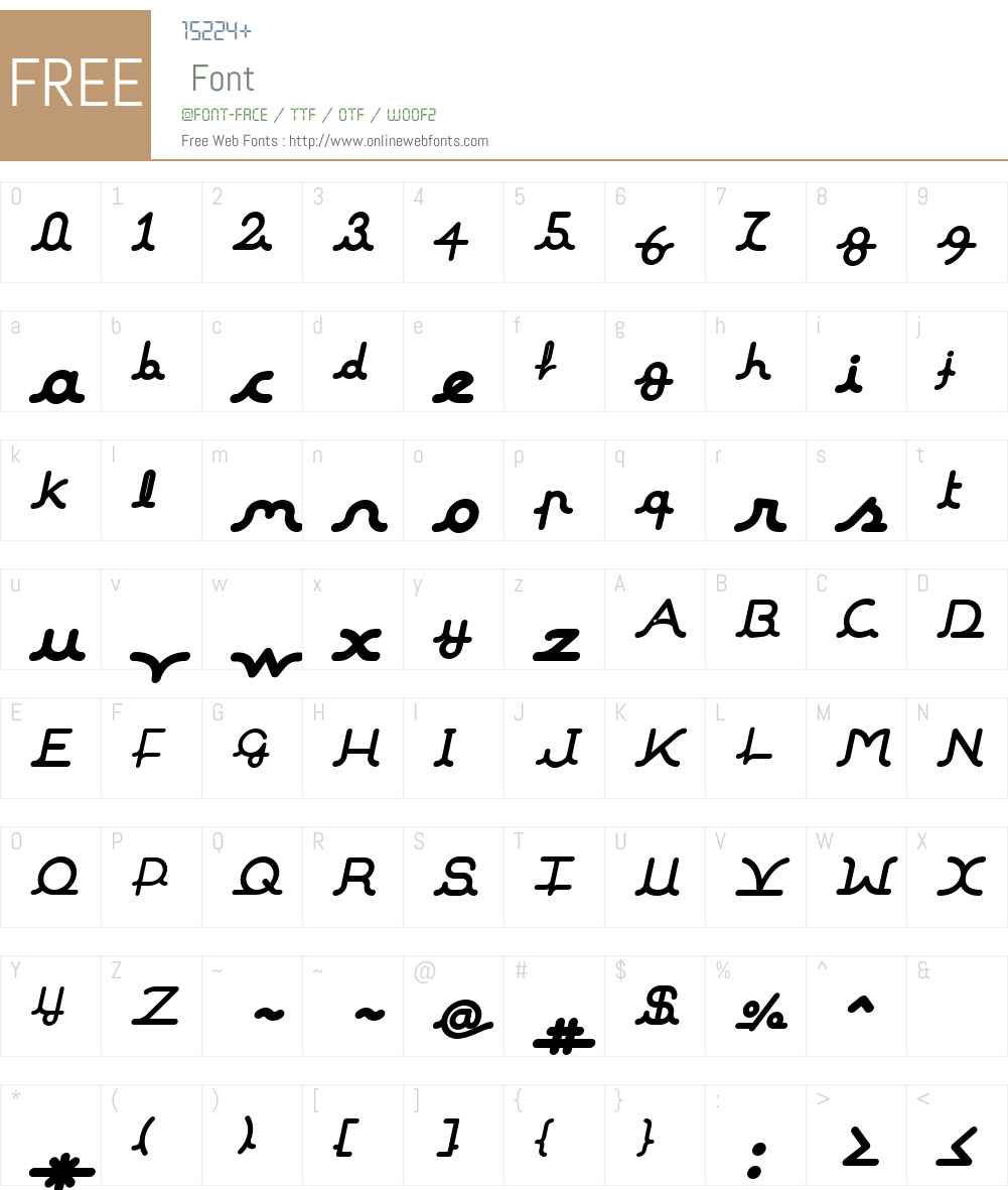 MalineW00-BlackItalic Font Screenshots