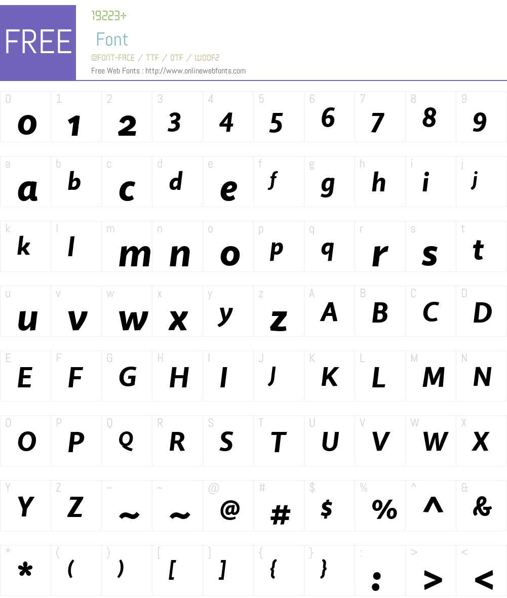 QuireSansW01-HeavyItalic Font Screenshots