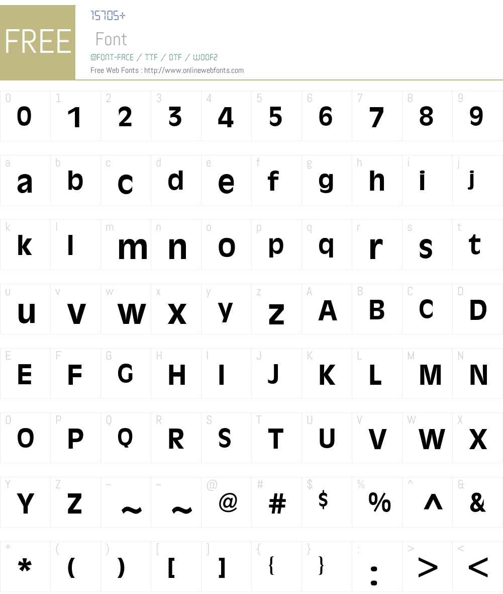 Antique Olive BQ Font Screenshots
