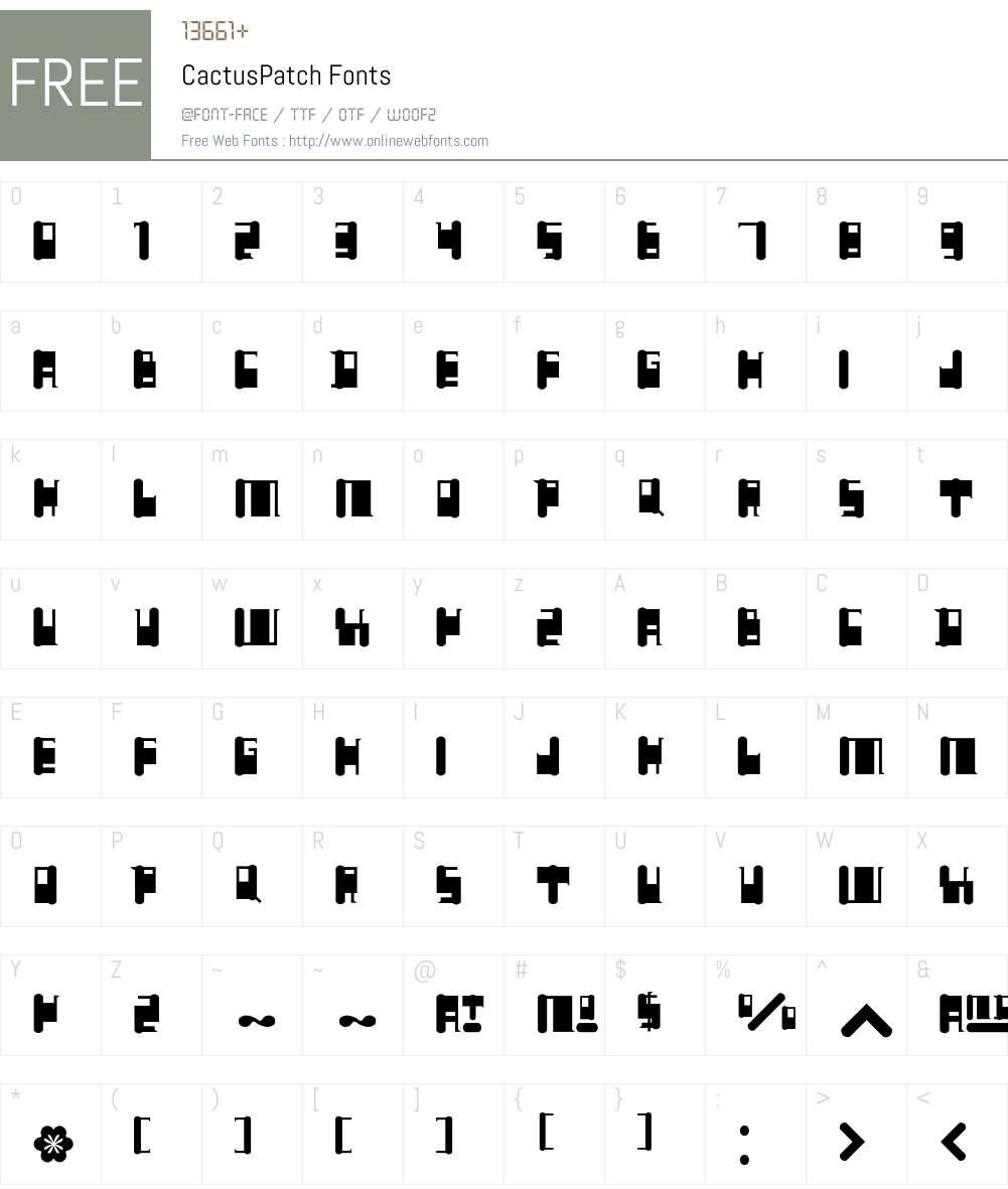 Cactus Font Screenshots