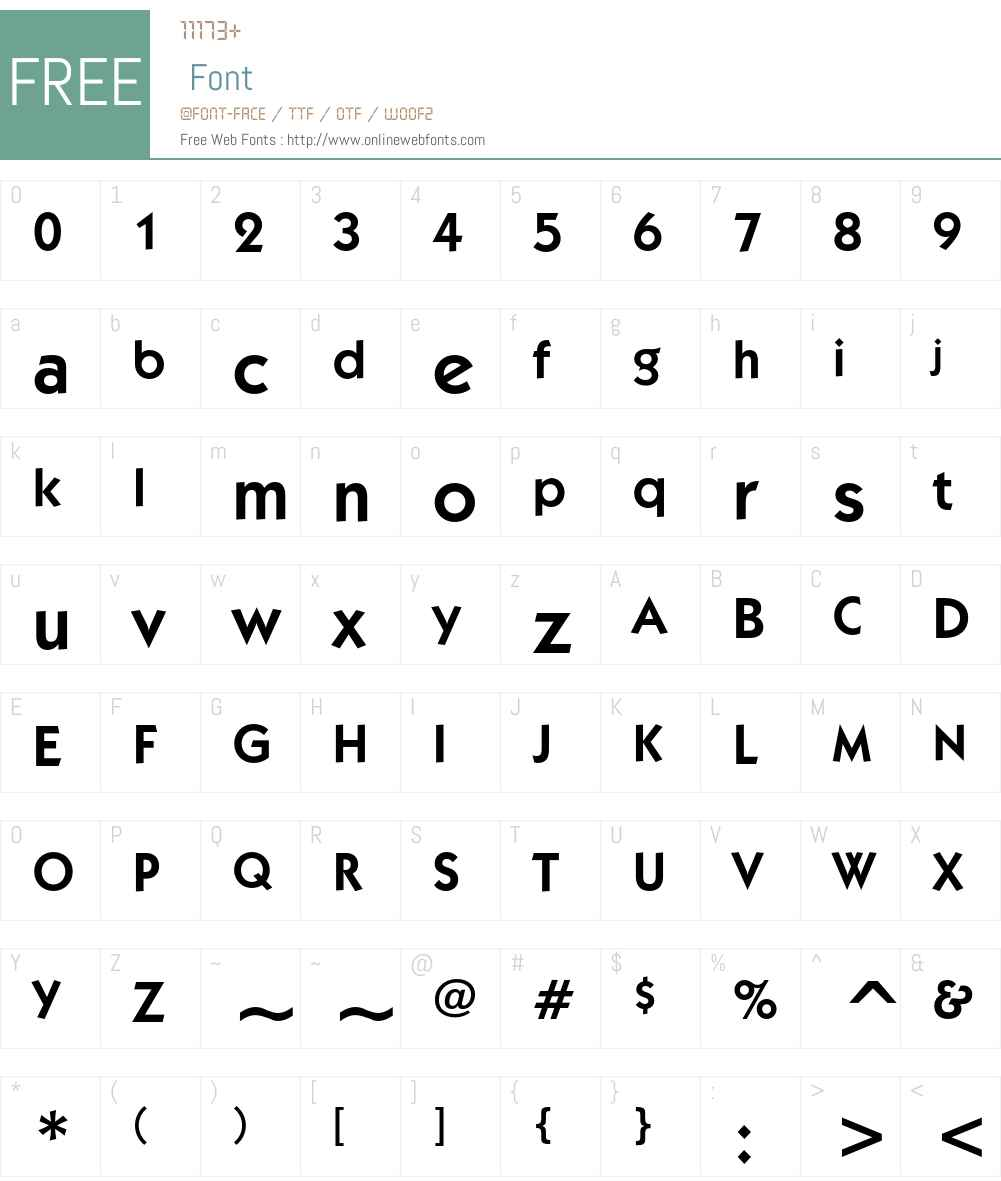 ITC Kabel Font Screenshots