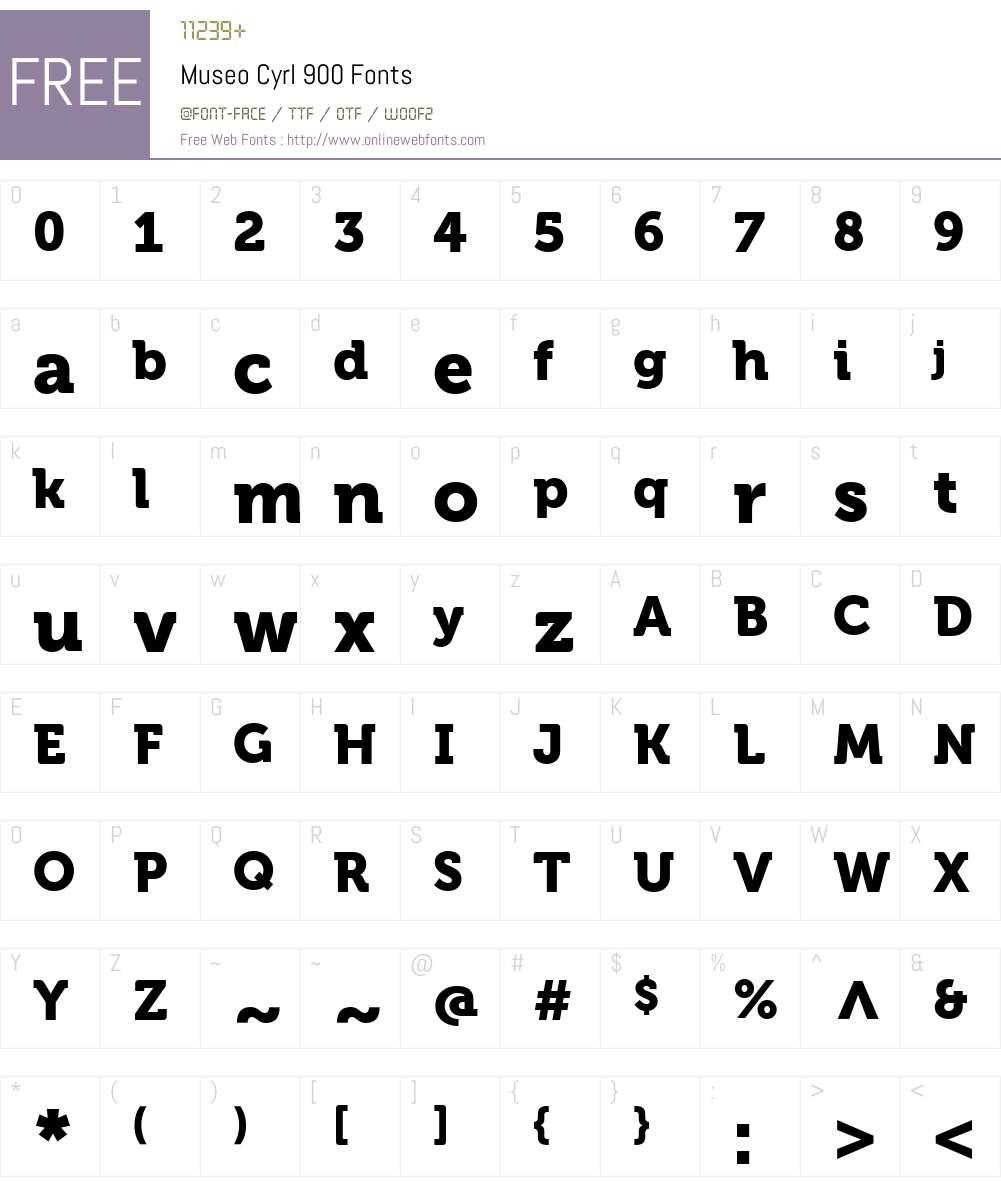 MuseoCyrl-900 Font Screenshots