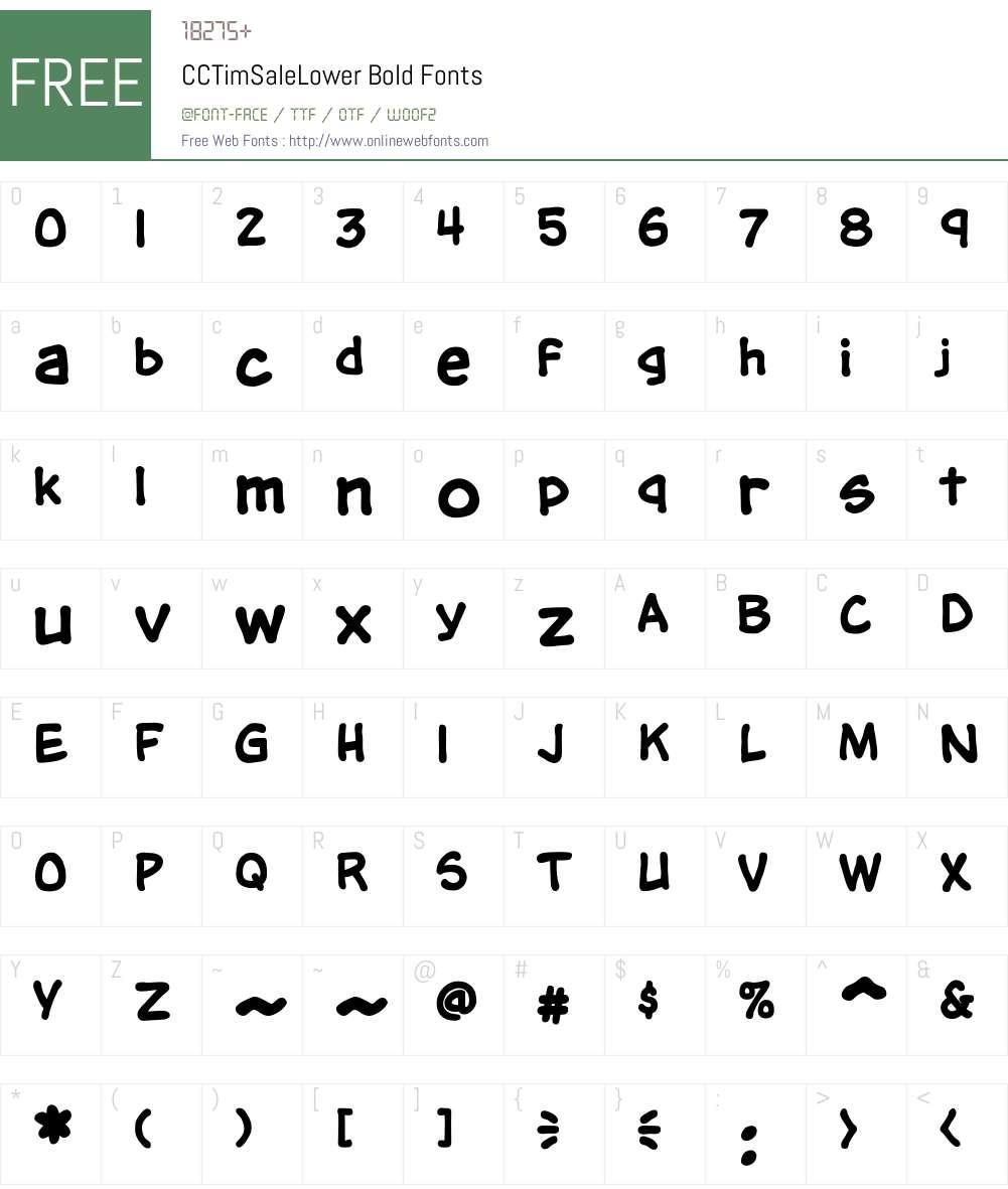 CCTimSaleLower-Bold Font Screenshots