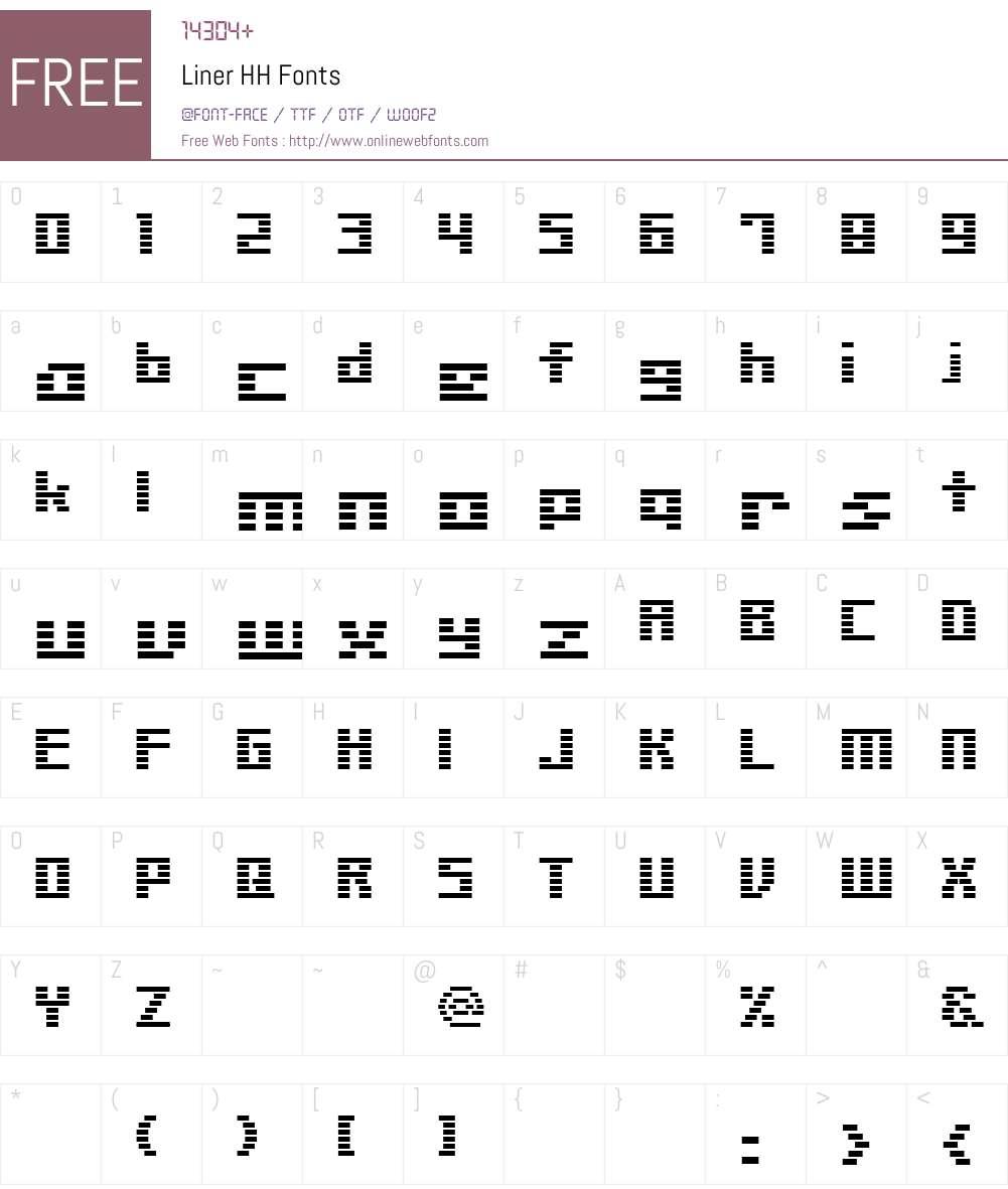 Liner HH Font Screenshots