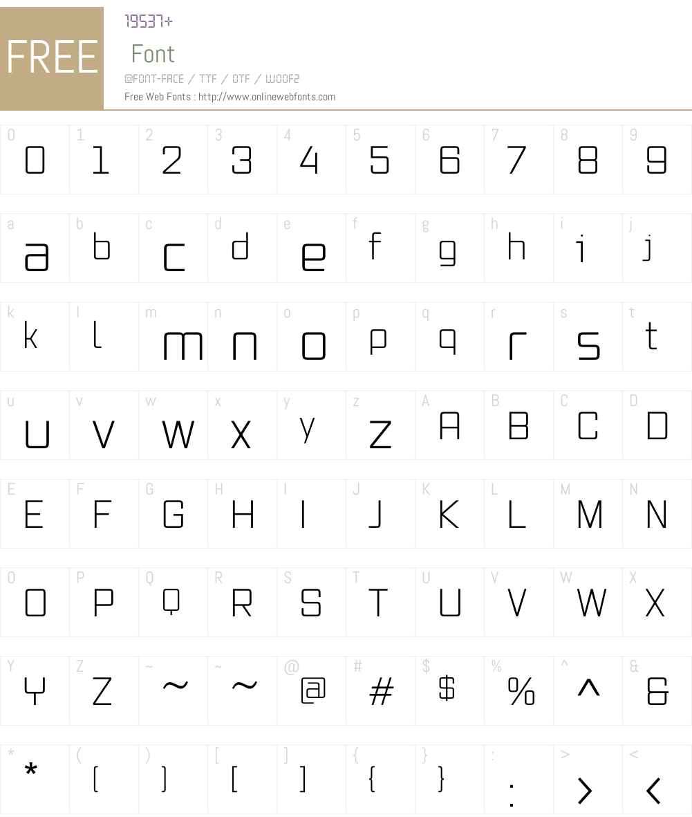 VoxW01-Light Font Screenshots